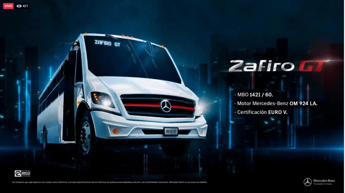 Lanzan Mercedes-Benz Autobuses y AYCO el nuevo Zafiro GT para transporte urbano