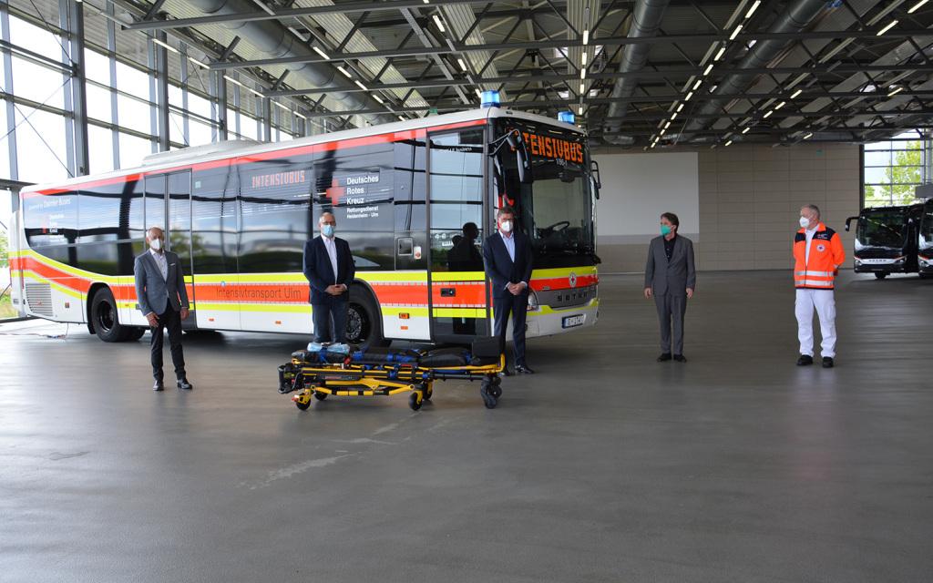 Adaptan autobús Setra Low Entry como ambulancia de cuidados intensivos en Alemania
