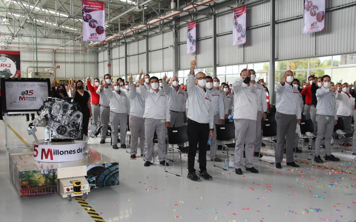 Celebra Nissan producción de su motor 15 millones en la planta de Aguascalientes