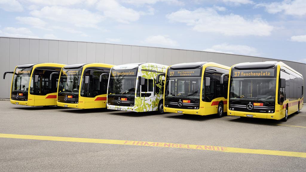Mercedes-Benz electrifica el noroeste de Suiza con autobuses eCitaro