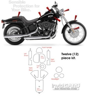 InvisiGARD Paint Protection Kit for HarleyDavidson Night