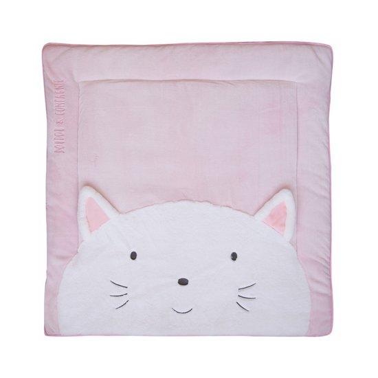 tapis de jeu tapidou chat 100x100 cm