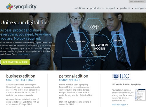 syncplicity 16 alternatives à DropBox