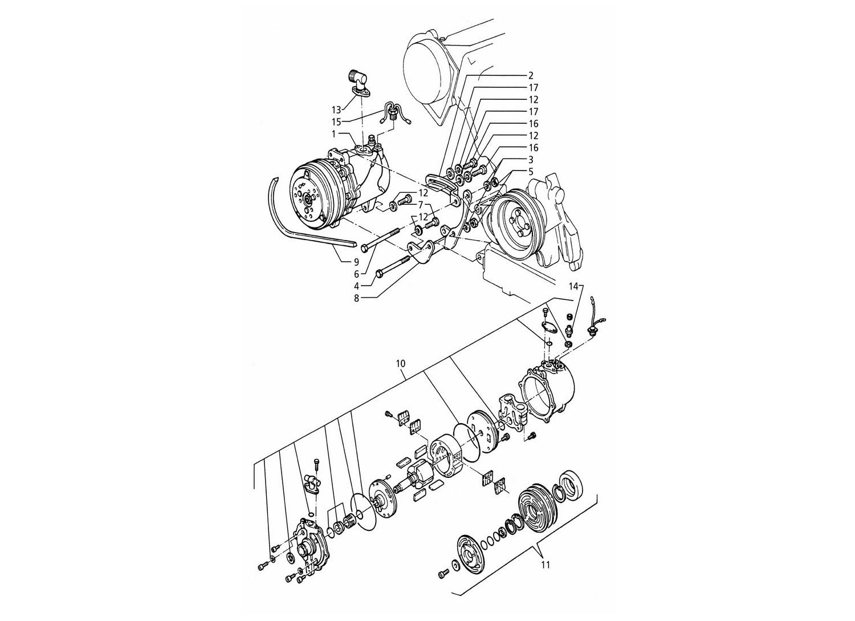 Air Compressor And Brackets