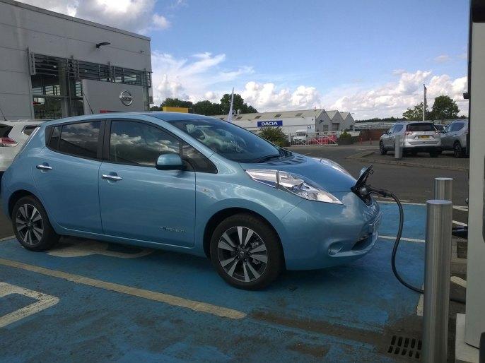 Charging at Nissan St Albans