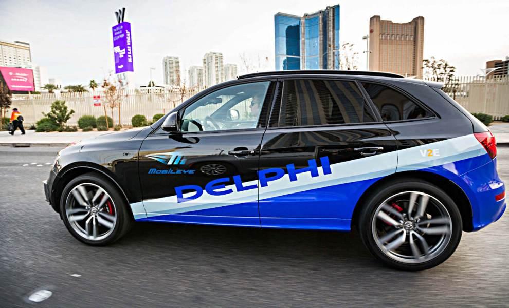 Autonom fahrender Audi von Delphi auf der CES 2017 in Las Vegas. Foto: Delphi