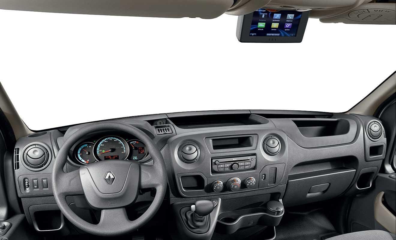 Das Cockpit des Master Z.E. Foto: Renault