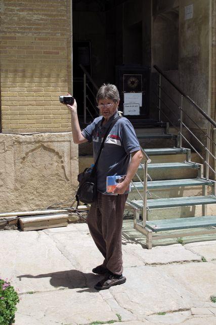 Mick dans le palais de Arg-e Karim Khani à Shiraz - l'autre ailleurs en Iran, une autre idée du voyage
