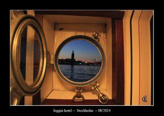 La vue depuis cette chambre d'hôtel assez atypique puisque une cabine dans un bateau