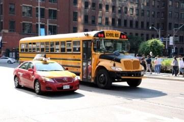 school bus & taxi