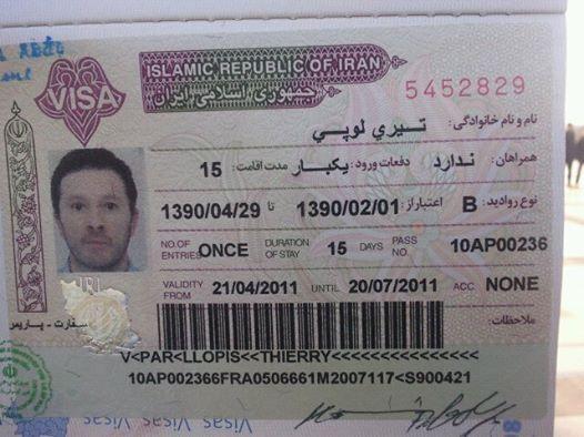mon visa iranien
