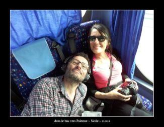 dans le bus vers Palerme