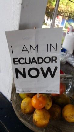 Je suis en Equateur