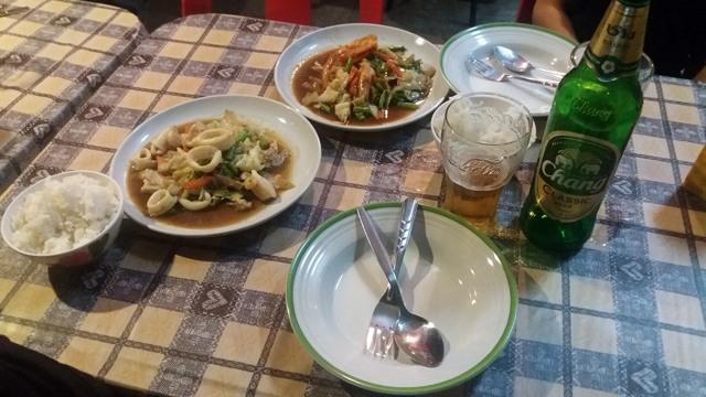 notre premier dîner