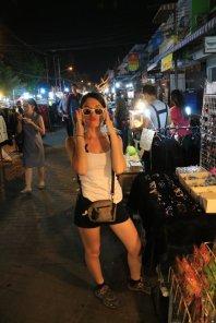 Laura Croft, marché nocturne de Chiang Mai