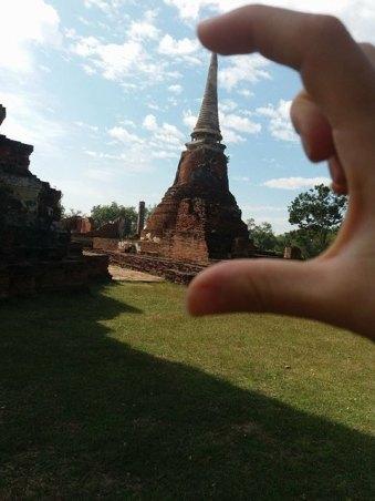 c'est petit non ? Wat Mahathat à Ayutthaya