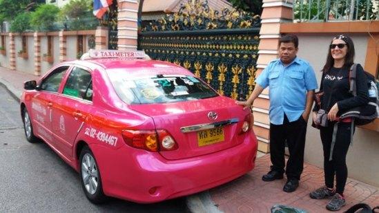 notre taxi pour l'aéroport de Bangkok