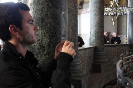 Saylon mon ami belge rencontré devant la mosquée Sainte Sophie
