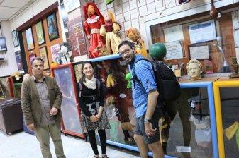 avec Hassan directeur du Centre National des Arts de la Marionnette