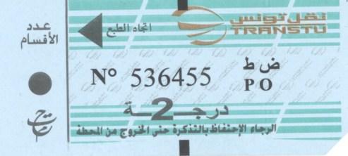 Ticket de train TGM