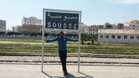 Thierry dans la gare de Sousse