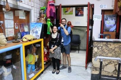Notre grenouille se sent vraiment chez elle au Centre National des Arts de la Marionnette