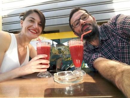 un jus de fraise juste après la visite du musée du Bardo