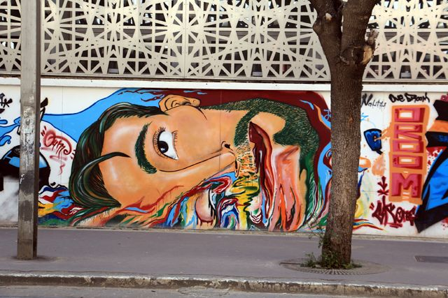 street art dans la rue