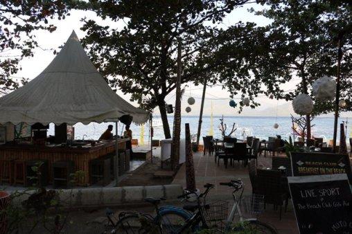 bar sur la plage de Gili Air