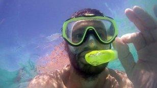 snorkeling à Gili Meno