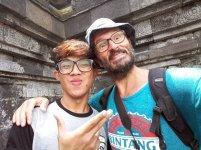 selfie à Borobudur