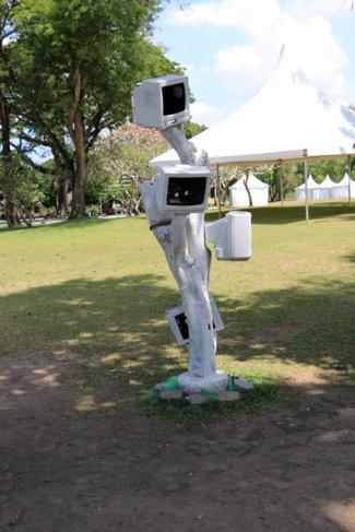 arbre à tv sur le site de Prambanan