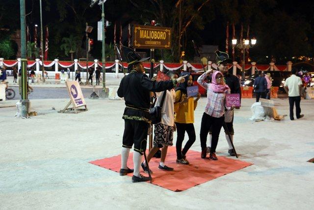 animation nocturne sur Jalan Malioboro