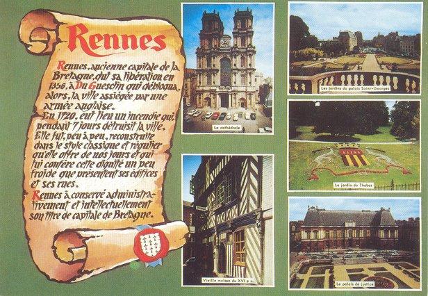 Carte postale de Rennes