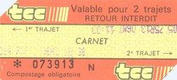 Je ne me souviens plus d'où vient ce ticket