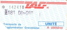 Ticket de Tram/Bus de Grenoble