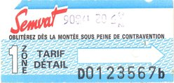 Un collector ! Ticket de bus de Toulouse (1991)
