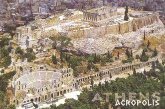 carte postale de l'Acropole (RDV n°5 - Mes voyages avant...Internet...suite et fin)