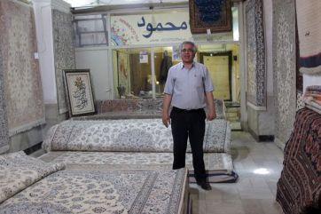 marchand de tapis à Ispahan - l'autre ailleurs en Iran, une autre idée du voyage