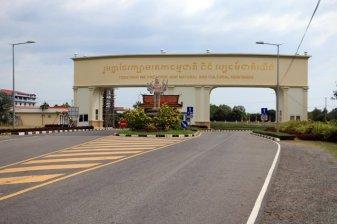 sur la route du retour depuis le parc national de Bokor près de Kampot