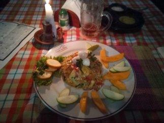 dîner salade + bière pour 8 € restaurant Cosecha Parrillada à Popayàn - l'autre ailleurs en Colombie, une autre idée du voyage