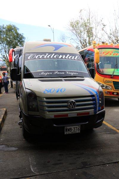 mini-bus de Salento à Medellín - l'autre ailleurs en Colombie, une autre idée du voyage