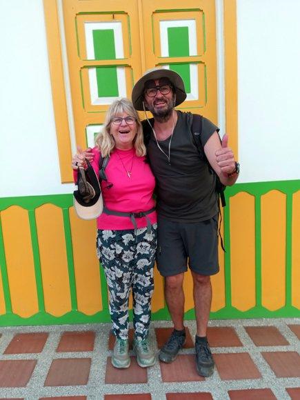 avec Roxane, la canadienne, juste après notre belle randonnée dans la vallée de Cocora près de Salento - l'autre ailleurs en Colombie, une autre idée du voyage
