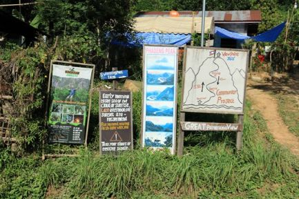 départ du chemin d'accès au point de vue sur la ville de Nong Khiaw - l'autre ailleurs, une autre idée du voyage