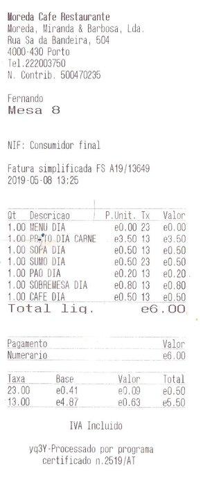 Restaurant Moreda - seulement 6€ pour un menu ! - l'autre ailleurs à Porto, une autre idée du voyage