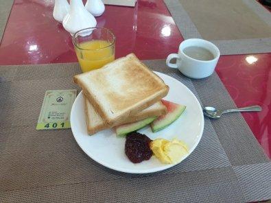 Premier petit déjeuner à Mandalay, vraiment pas terrible dans l'hôtel Palace Hotel - l'autre ailleurs au Myanmar (Birmanie) et Thaïlande, une autre idée du voyage