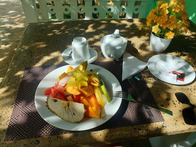 petit déjeuner dans le superbe hôtel dans lequel je séjourne à Dambulla, le New Peacock Resort - l'autre ailleurs au Sri-Lanka, une autre idée du voyage