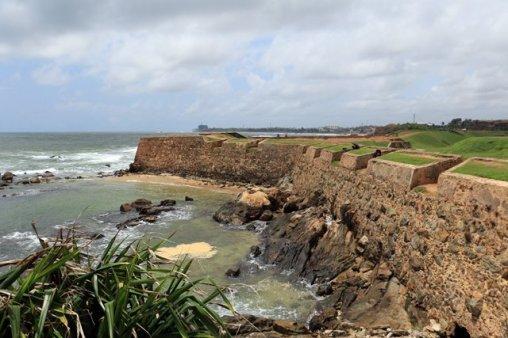 les fortifications dans la partie vieille ville de Galle- l'autre ailleurs au Sri-Lanka, une autre idée du voyage