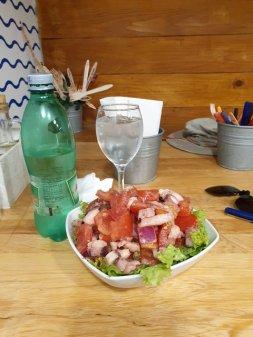 une salade au poulpe dans la restaurant Barba à Dubrovnik - l'autre ailleurs en Croatie, une autre idée du voyage