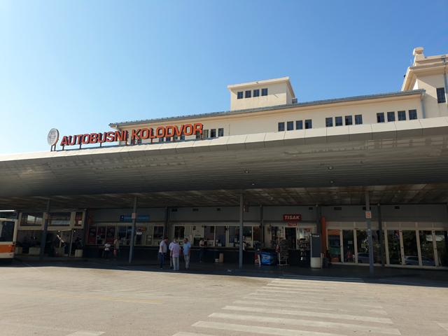 la gare routière de Dubrovnik - l'autre ailleurs en Croatie, une autre idée du voyage